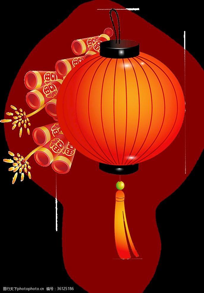 元宵花灯创意免扣透明红灯笼
