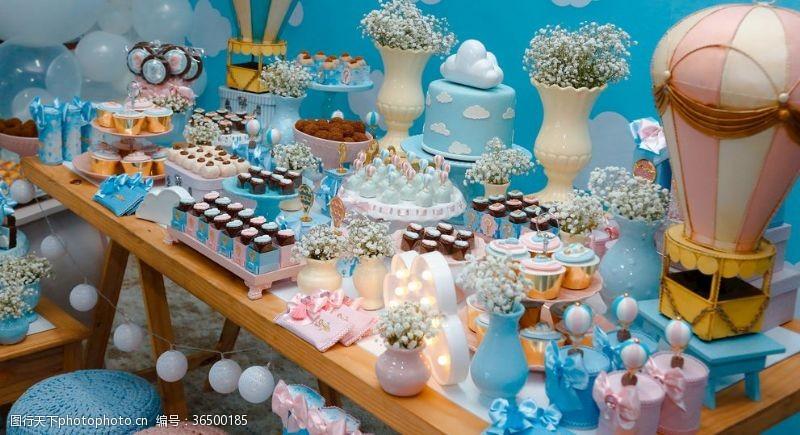 甜品店掛畫美味甜品