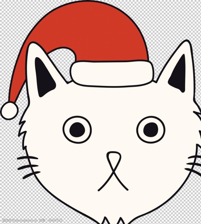 书本手绘卡通猫