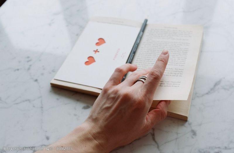 书本翻书手势