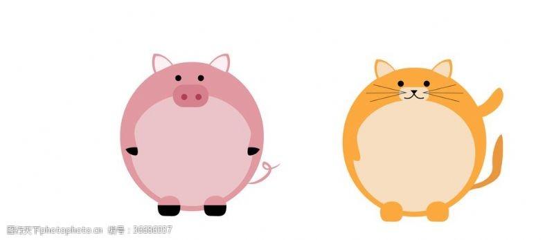 平面設計卡通動物