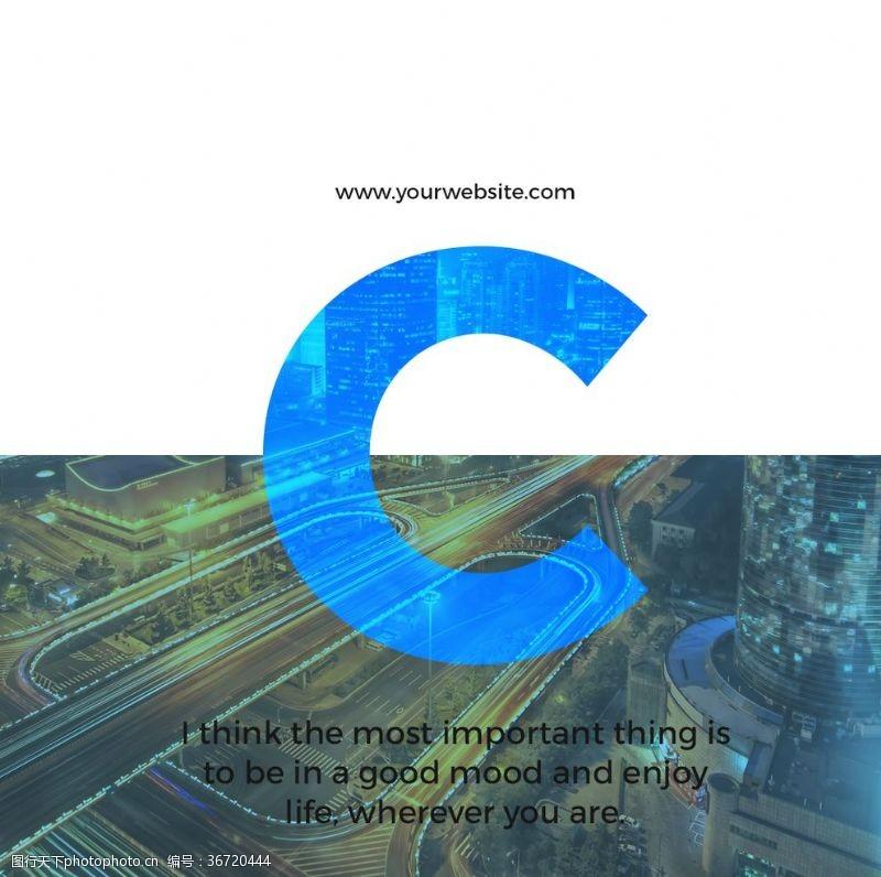 广告设计字母海报