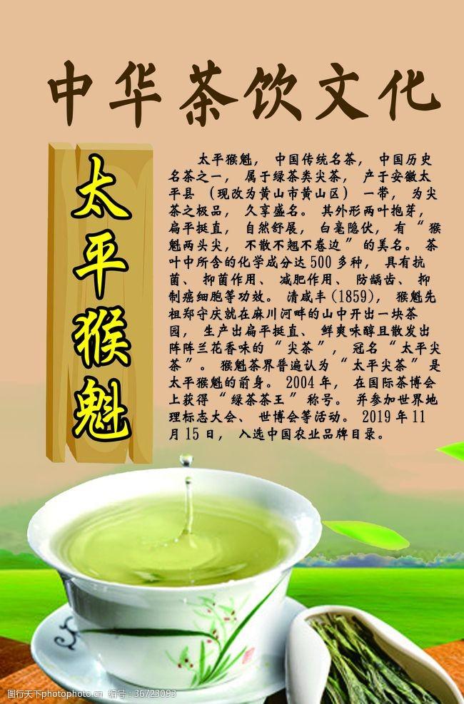 展板模板中华茶饮文化之太平猴魁