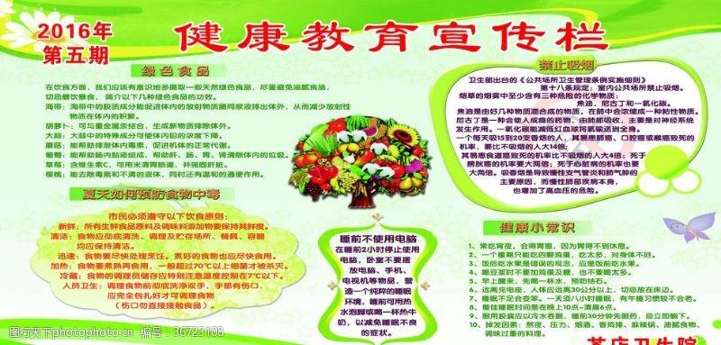 展板模板健康教育宣传栏