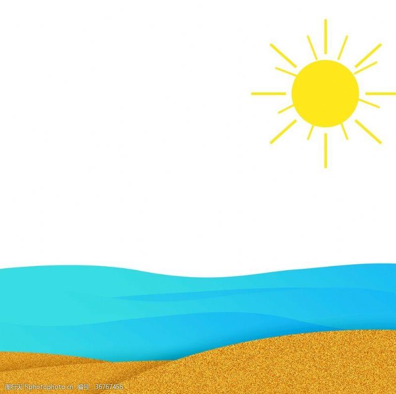 夏天沙灘海洋元素