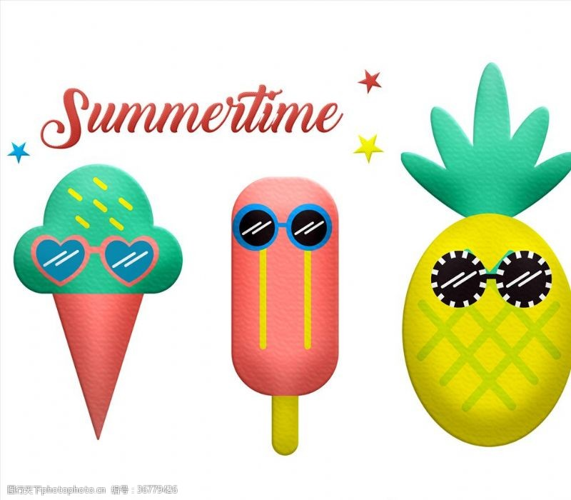 夏天你好冰淇淋