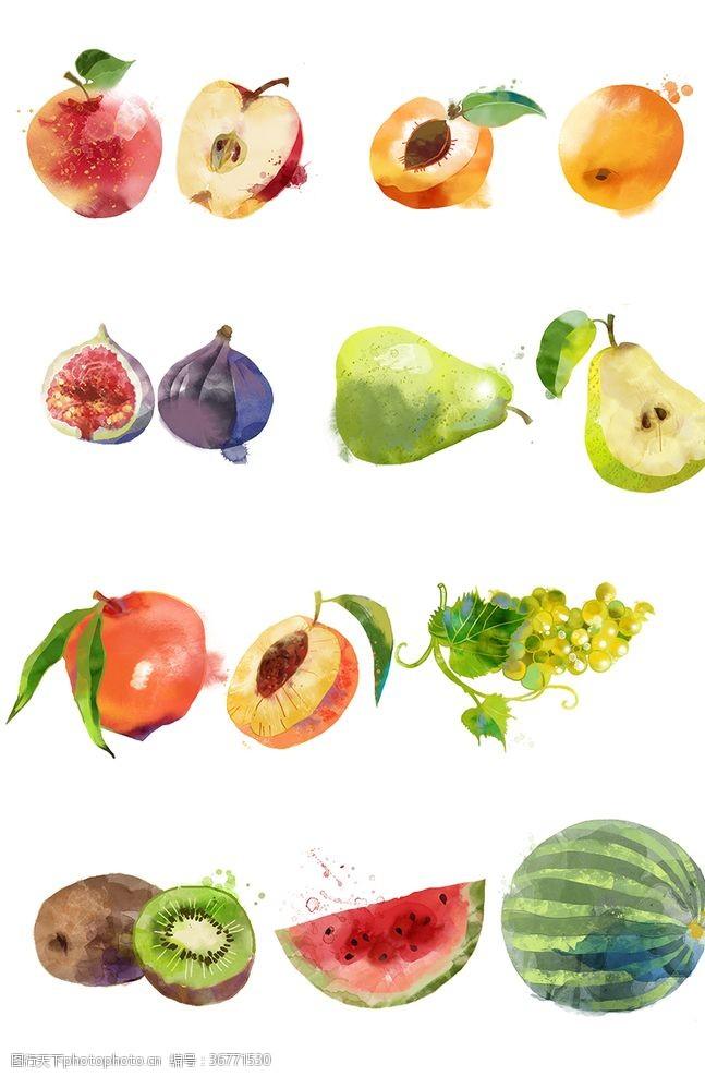 西瓜手繪水果