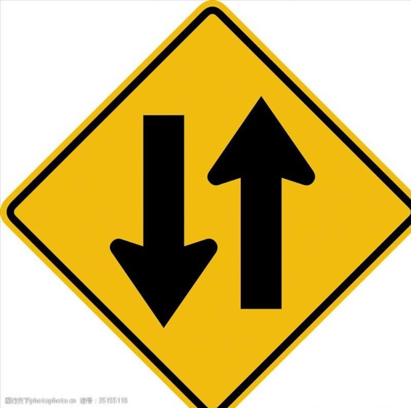 traffic外国交通图标双向道路图标