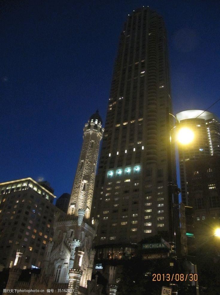 芝加哥夜景海报