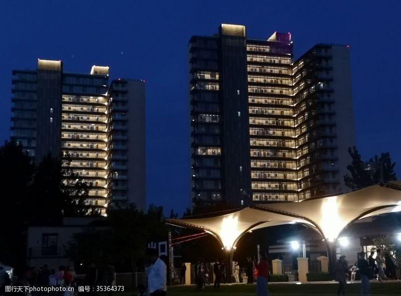 高建筑夜景