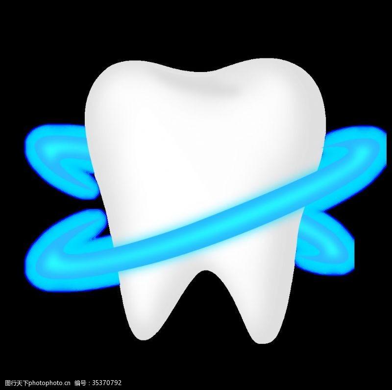 涂氟牙齿素材