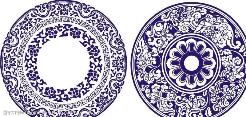 青花瓷素材青花瓷花纹