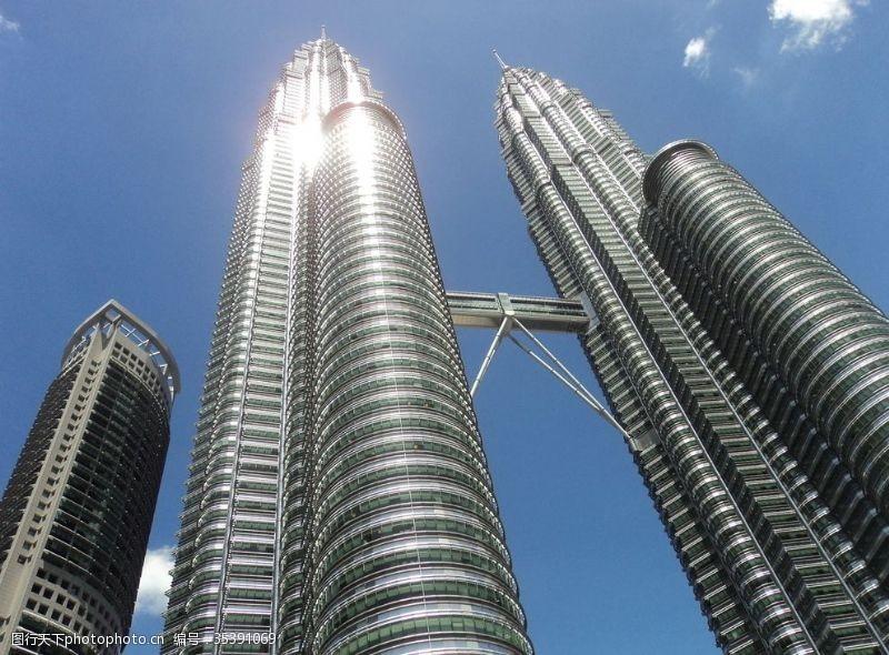 高建筑双子塔