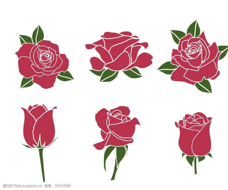 卡通玫瑰花设计