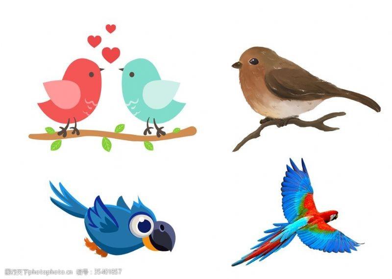 小鸟插图鸟