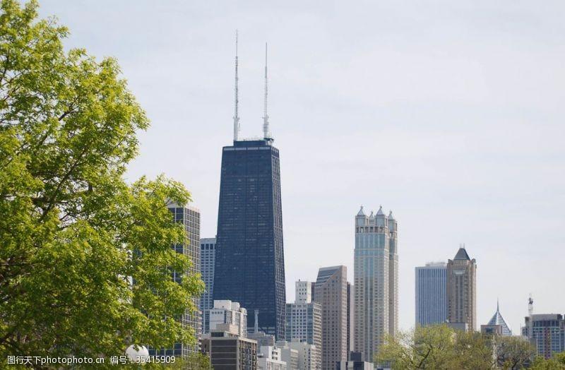 高建筑城市建筑芝加哥