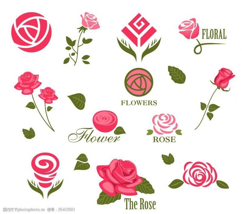 卡通玫瑰花图片
