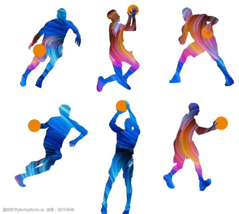 篮球剪影篮球运动剪影