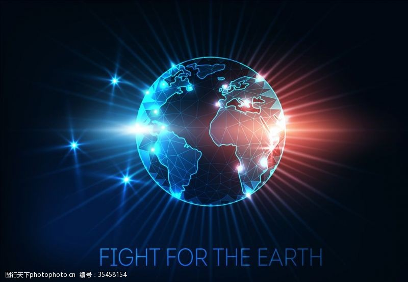 数字地球科技地球背景