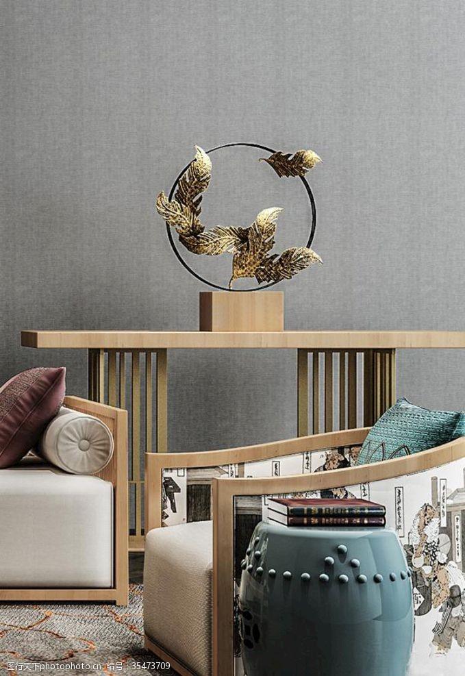 布艺沙发沙发现代工艺品