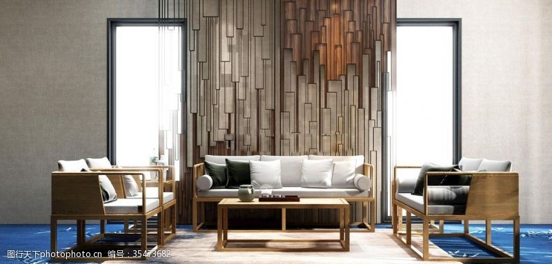 布艺沙发沙发组合茶几实木家具