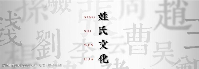 中国风姓氏文化活动背景素材