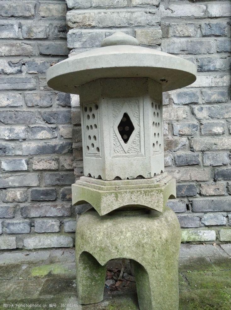 石灯笼仿古石灯笼古代地灯
