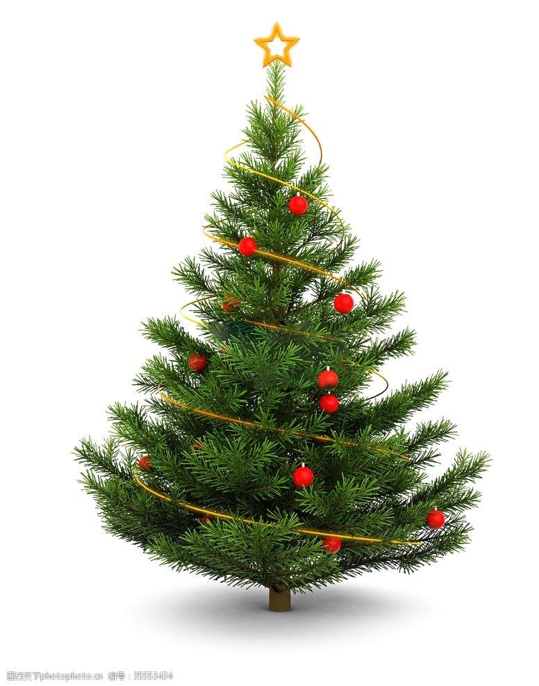 红球圣诞树