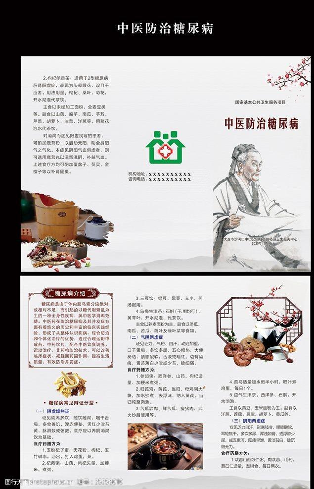 社区折页中医防治糖尿病