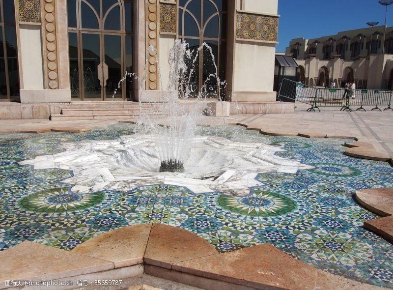 喷泉景观简笔画
