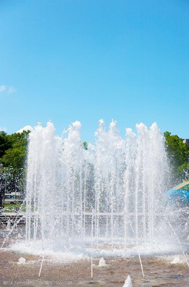 喷泉景观手抄报