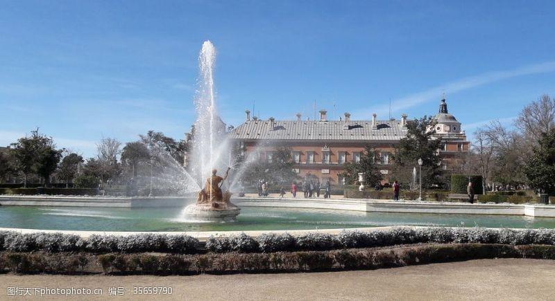 喷泉景观广告