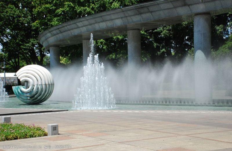 喷泉景观背景