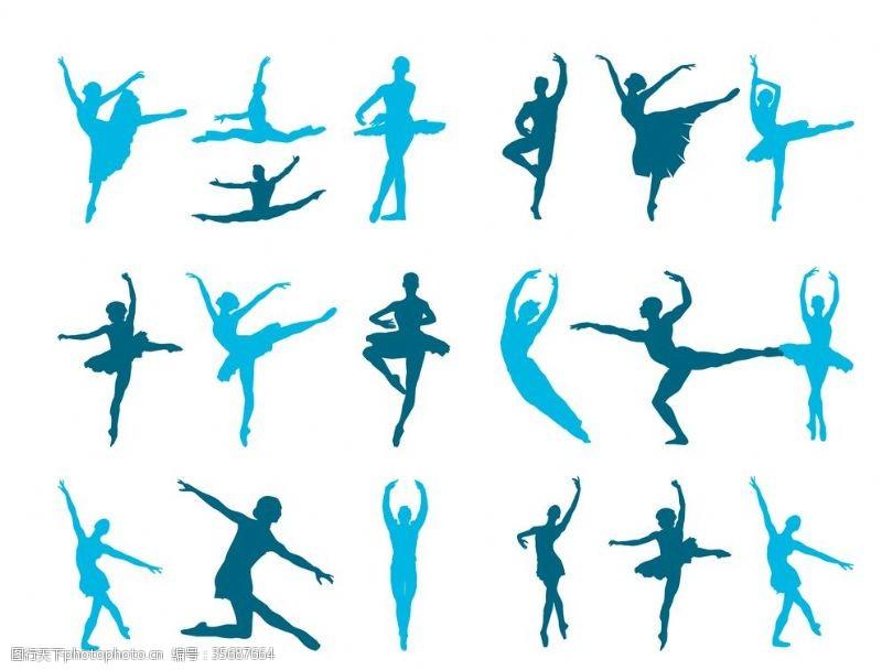 健身体操舞蹈剪影
