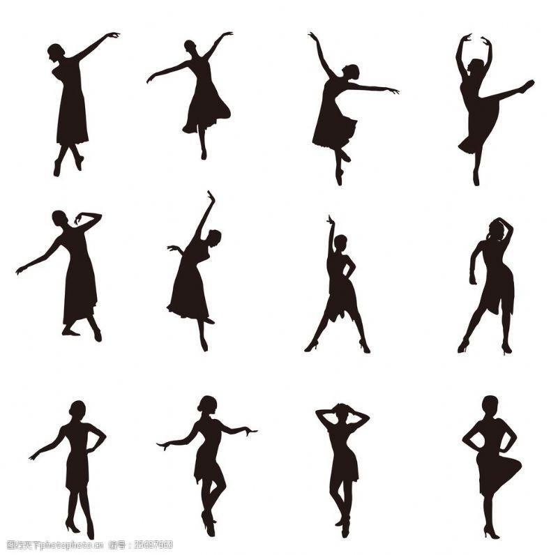 健身体操跳舞剪影