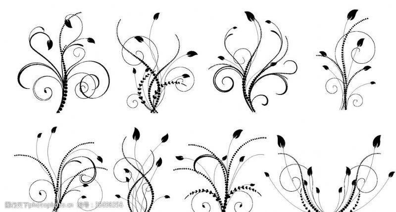 精美花纹底纹欧式花纹