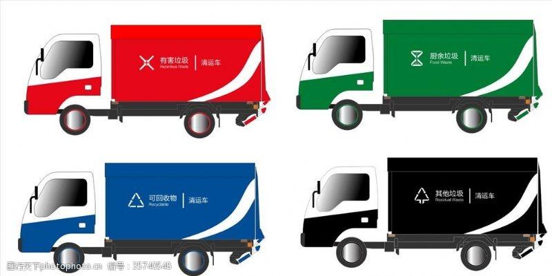 环卫车垃圾分类收运车涂装图标
