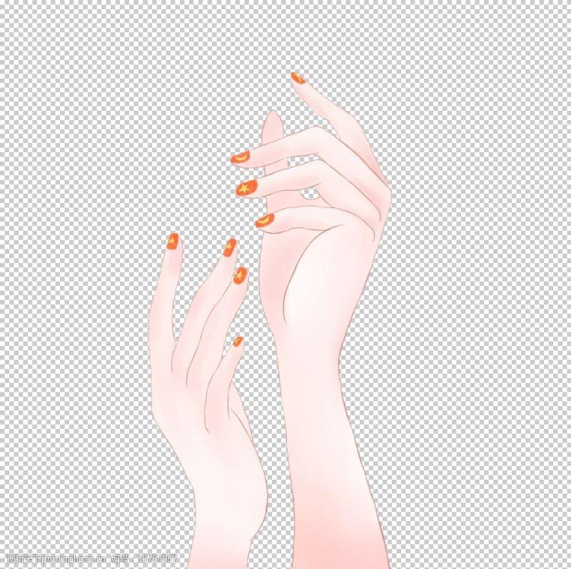 手造型手女人手美甲
