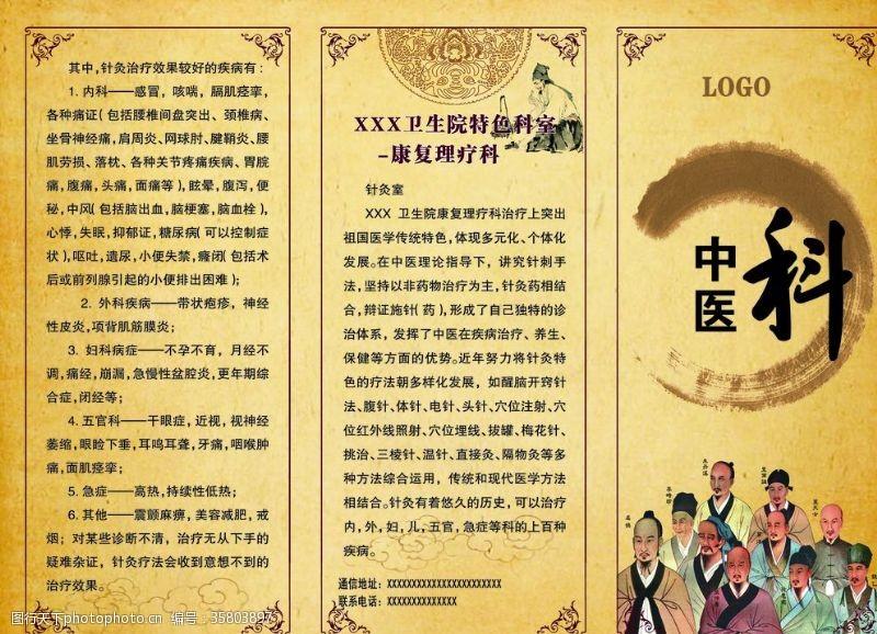 中医科三折页背景
