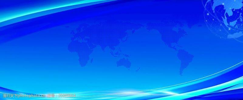抽象背景矢量蓝色舞台背景