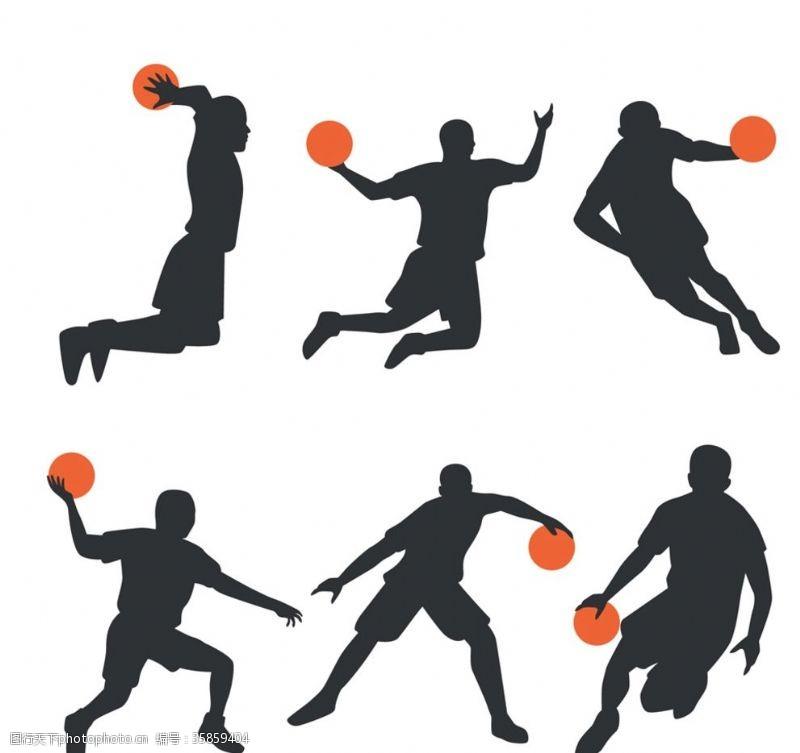 篮球剪影设计