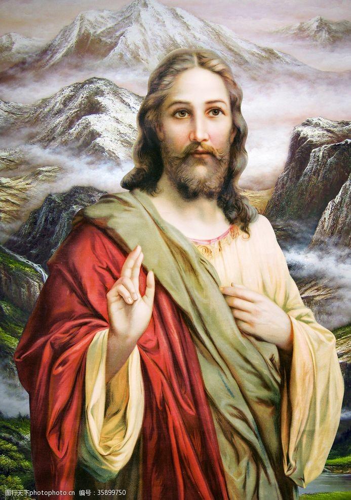 神爱世人基督耶稣上帝文化油画像