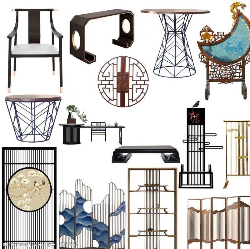 家居装饰素材中式家具