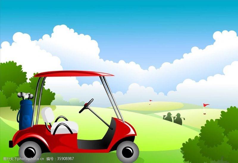 高尔夫车高尔夫球场
