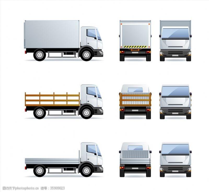 手绘货车货车