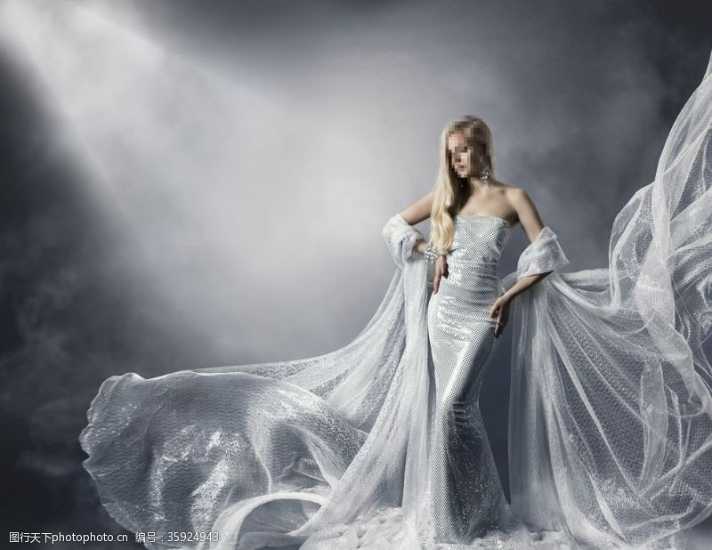 国外美女礼服模特美女