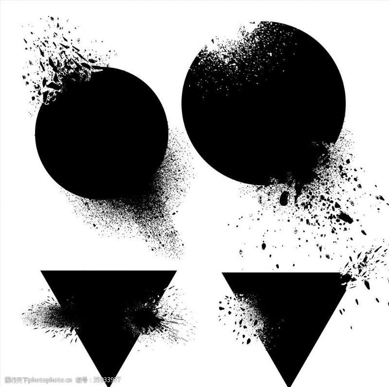 炸裂黑色墨迹爆炸背景设计