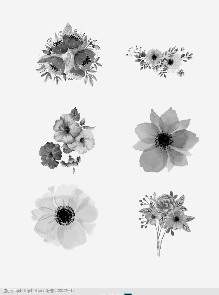 烟花效果PS笔刷复古花朵