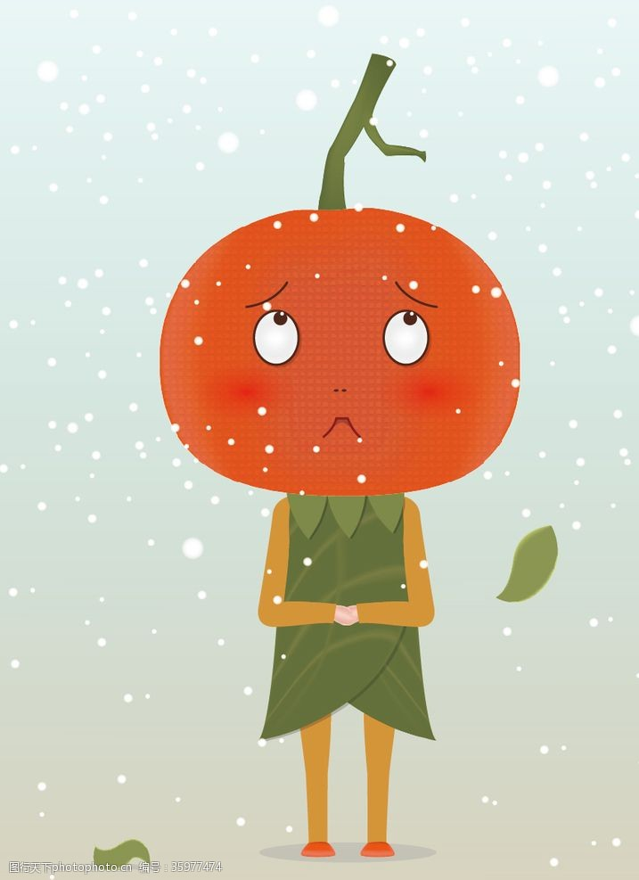 卡通矢量图案橘宝