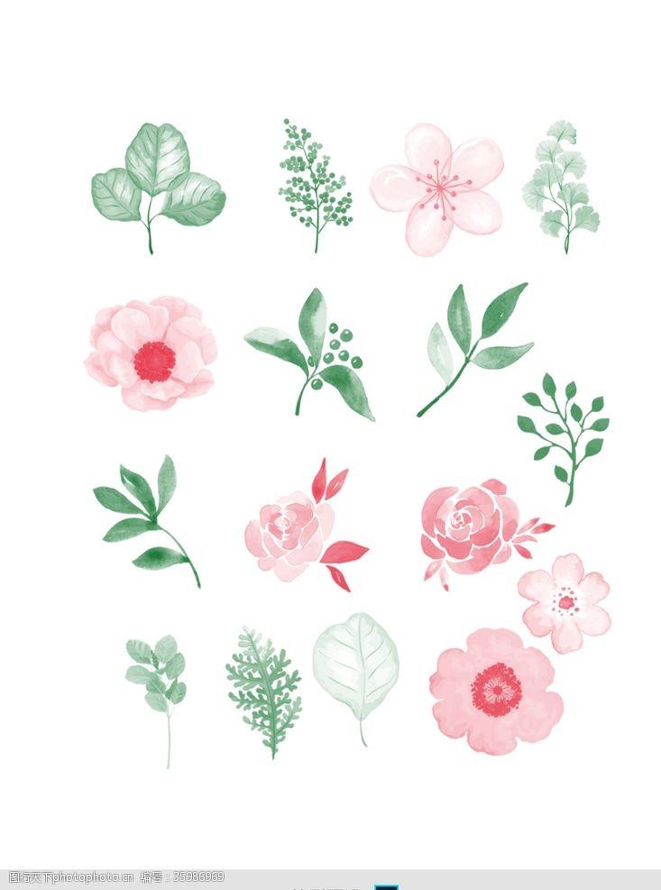 烟花效果PS笔刷花朵叶子